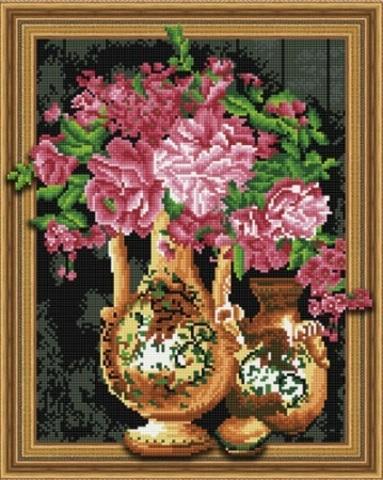Алмазная Мозаика 5D Цветы в вазах (арт. LT0543)