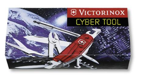 Нож Victorinox CyberTool, 91 мм, 34 функции, полупрозрачный синий123