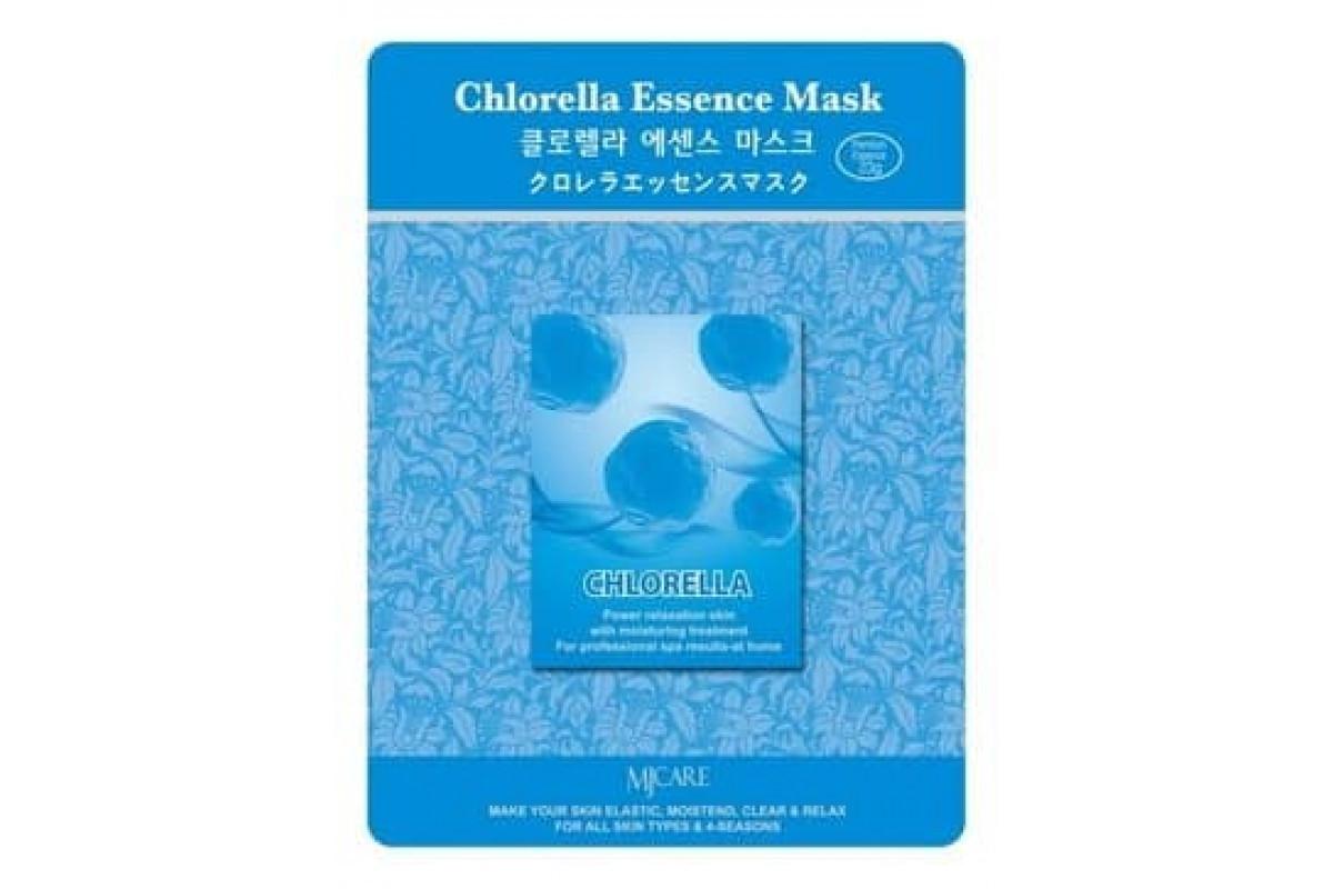 Тканевые Маска  тканевая хлорелла MIJIN  Essence Chlorella Essence Mask 23 гр maska-tkanevaja-hlorella-23gr_1-1200x800.jpg