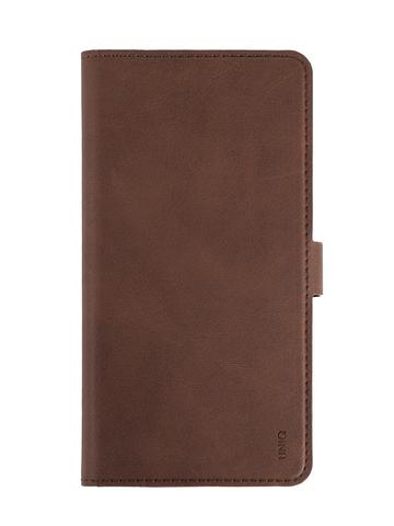 Чехол Uniq Journa Heritage для iPhone 12/12 Pro |  книжка карман магнит экокожа коричневый