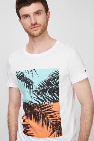 Мужская белая футболка PHOTOPRINT Tommy Hilfiger