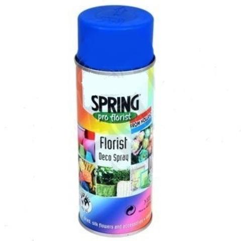 Краска-спрей SPRING флуоресцент. Цвет: 599, синий