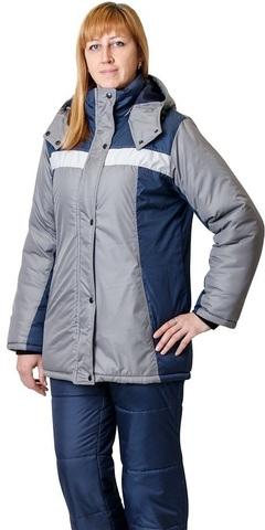 Куртка ИТР женская синий со стальным