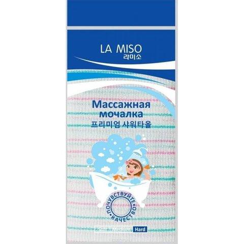 La Miso Массажная мочалка зеленая (Жесткая)