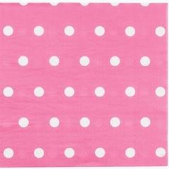 Салфетка Горошек ярко-розовая