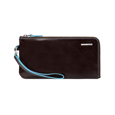 Мультипортмоне Piquadro Blue Square, коричневое, 22,5х11,5х1,5 см