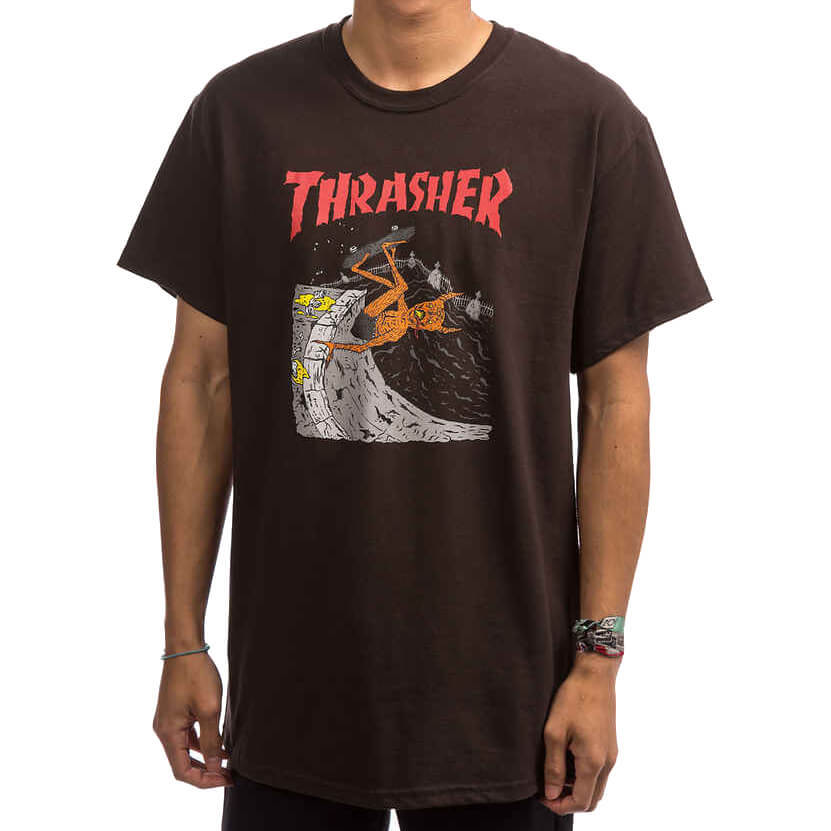 Футболка THRASHER Neckface Invert (Brown)