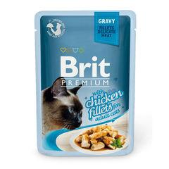 Пауч для кошек, Brit Premium Gravy, кусочки куриного филе в соусе