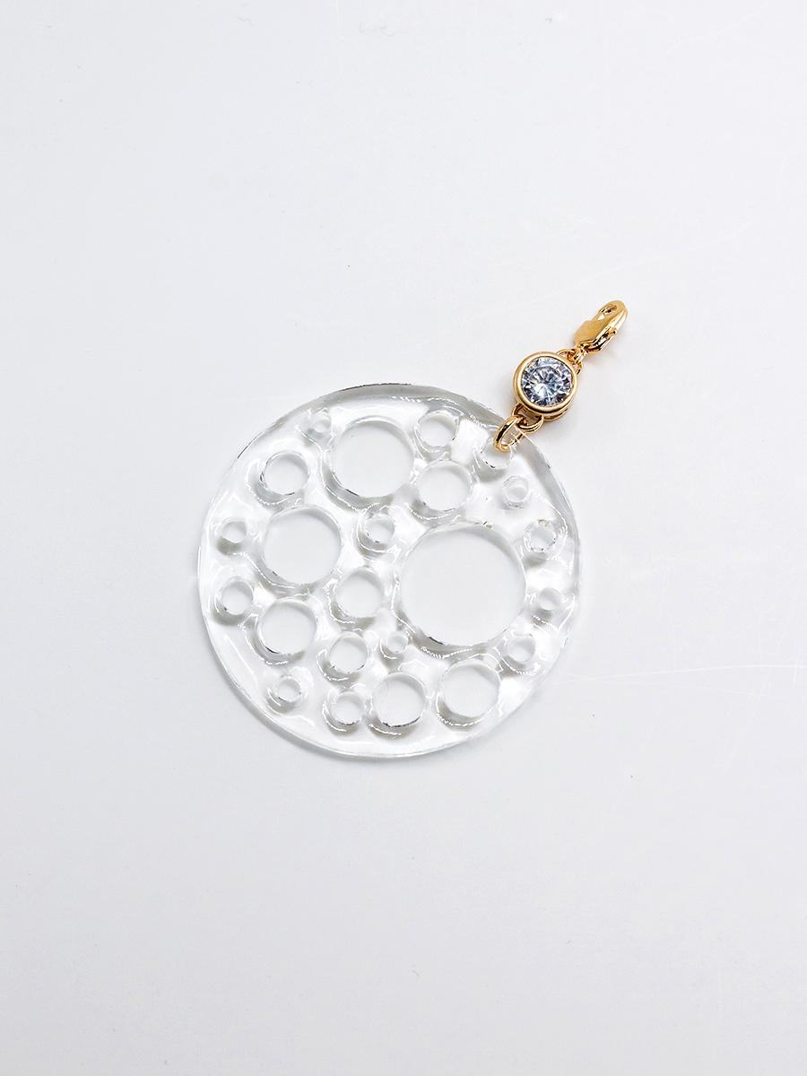 Медальон из пластика с фианитом  оптом и в розницу