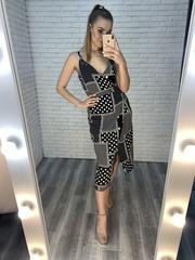 черное платье с запахом купить