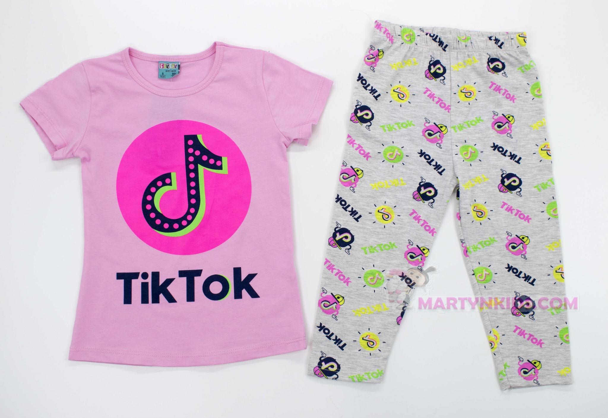 2931 костюм TIK TOK надписи