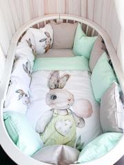 Бортики для кроватки с одеялком «Сладкий зайка»