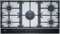 Газовая варочная панель Neff T29DA69N0 90см нержавеющая сталь фото