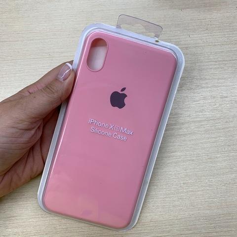 Чехол iPhone XS Max Silicone Slim Case /pink/