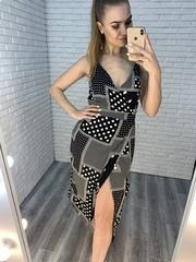 черное платье с запахом nadya