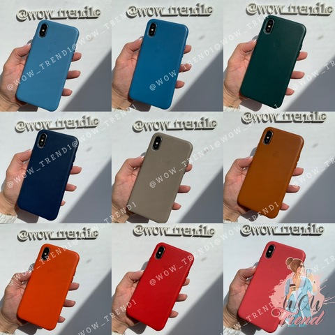 Чехол iPhone X/XS good Leather Case