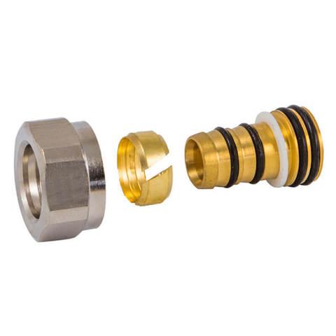 Резьбовое соединение для пластиковых труб хром GW 22x1.5 x 16x2