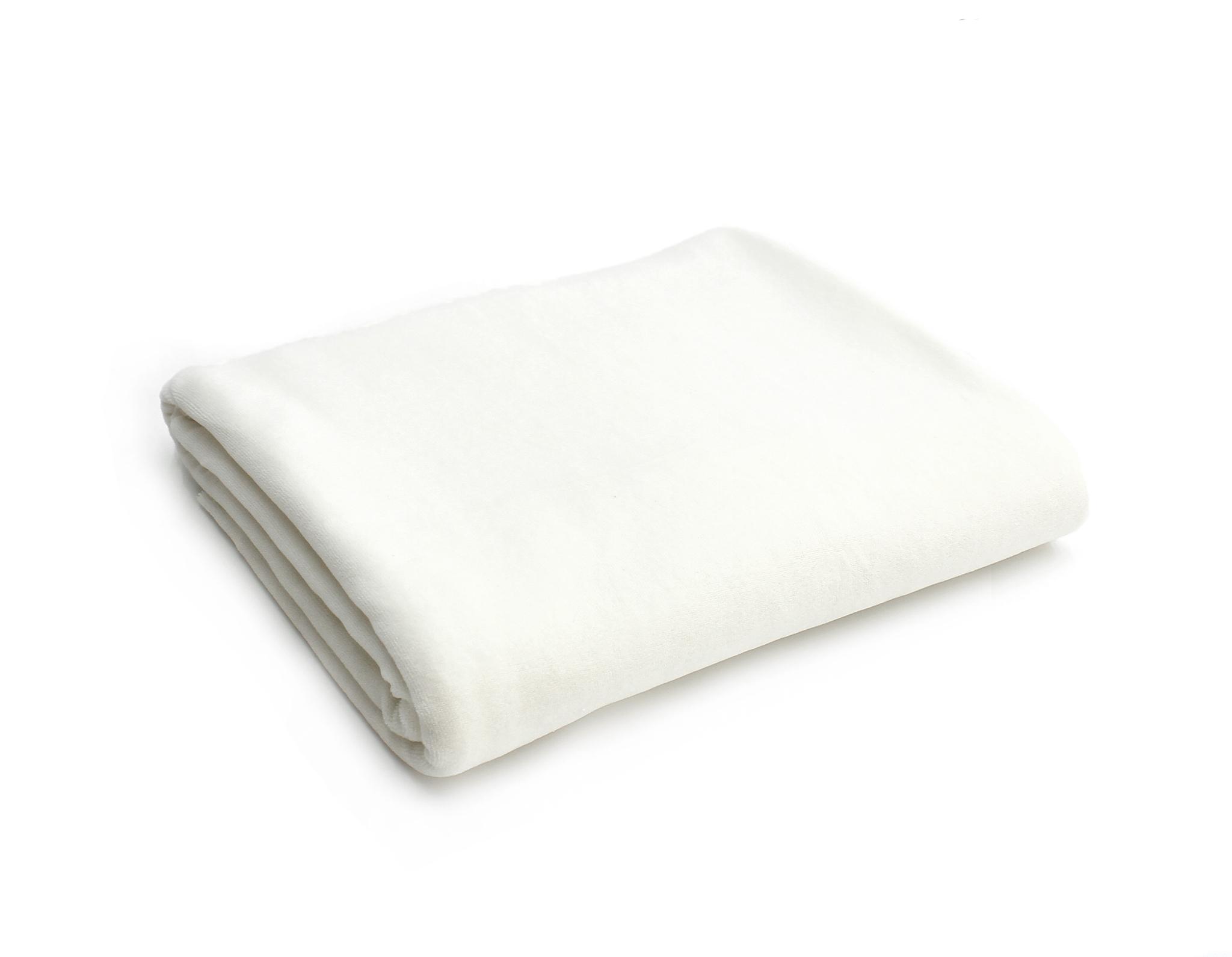 Велюр белый, теплый оттенок