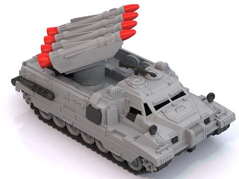 Машина-вездеход, ракетная установка