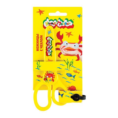 Ножницы детские Каляка-Маляка безопасные, с металлическими лезвиями и пластиковым чехлом/НЧКМ