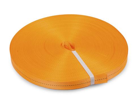 Лента текстильная для ремней TOR  25 мм 1200 кг (оранжевый), 100м