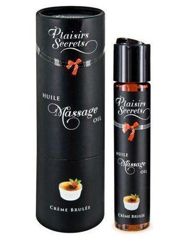 Массажное масло с ароматом крем брюле Huile de Massage Gourmande Creme Brulee - 59 мл.
