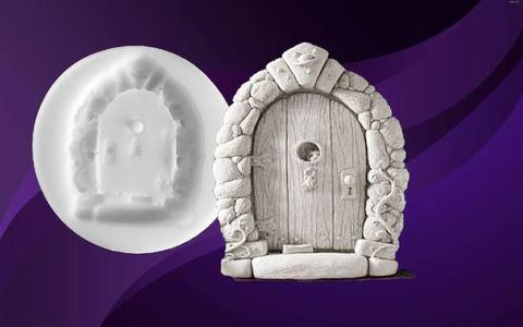 Силиконовый молд № 420 Дверь  ( серия домики для гномов и фей)