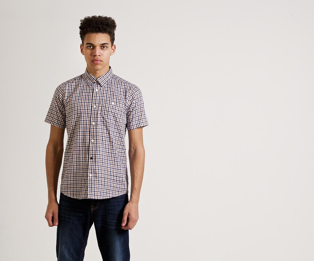 Мужская рубашка с коротким рукавом Weekend Offender Roscoe Woody. Коллекция весна-лето 2016.