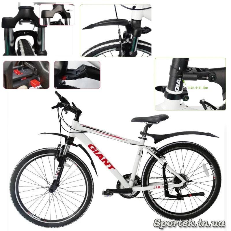 Крылья DN-23 Flanb на велосипеде