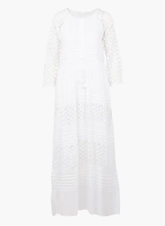 ROMEE - Белое кружевное длинное платье