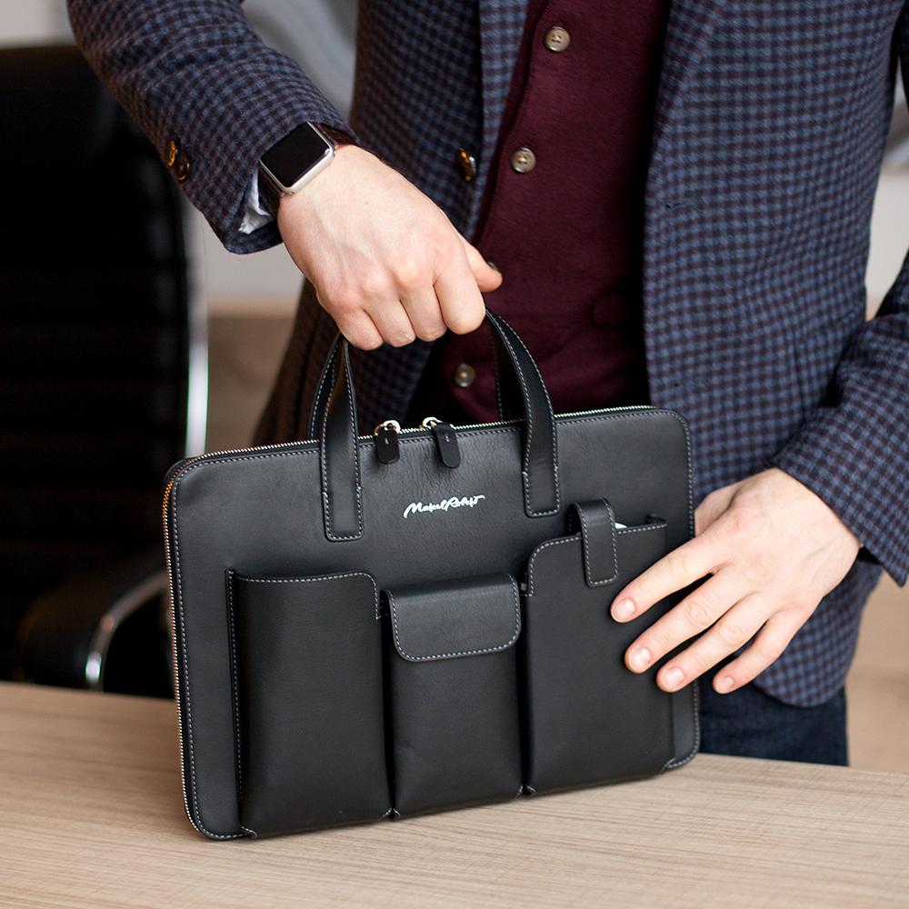 Zipped & pockets 13''  - black