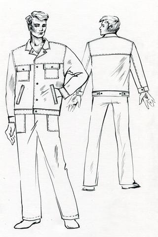 Выкройка куртки с поясом