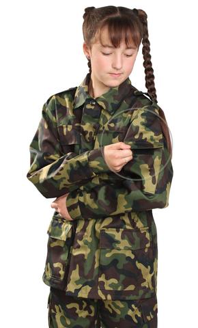 Костюм детский военно-полевой зелёный кмф