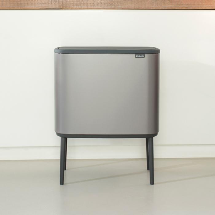 Мусорный бак Touch Bin Bo (36 л), Платиновый, арт. 315787 - фото 1