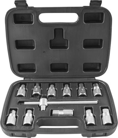 AODTS12 Набор приспособлений для откручивания масляных пробок, 12 предметов