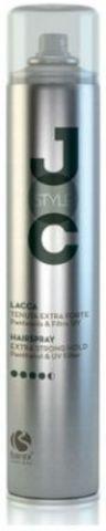 Лак для волос сильной фиксации с пантенолом и УФ-фильтром, Barex JOC Style,500 мл.