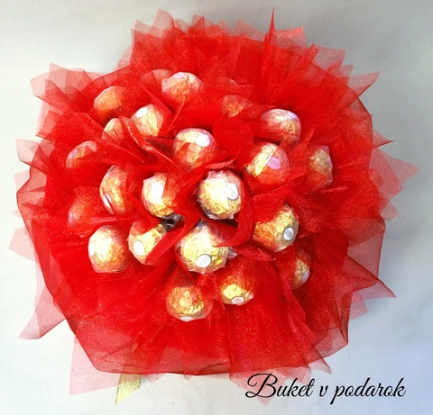 Букет из 23 конфет ferrero roshe