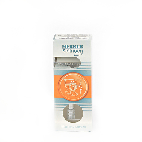 Станок Т- образный для бритья Merkur Futur золотистый, с регулировкой угла наклона лезвия