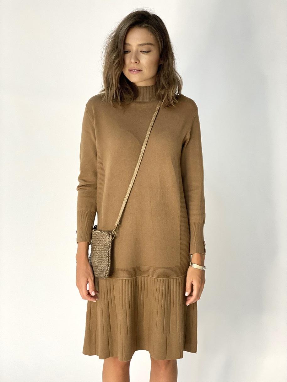 Платье, UNO, 977 (camel)