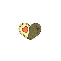 Значок Авокадо сердце