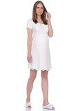 Ночная сорочка для беременных и кормящих 09911 молочный