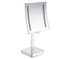 Косметическое зеркало WasserKRAFT K-1007 с LED-подсветкой, с 3-х кратным увеличением