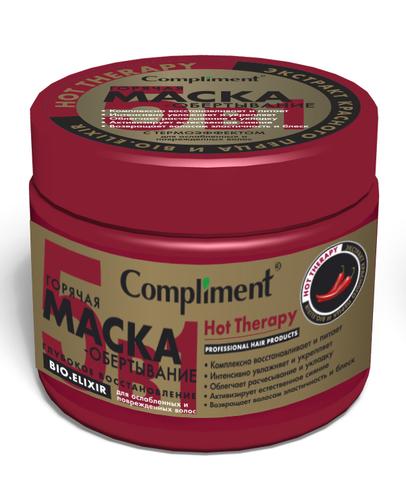 Compliment HOT THERAPY Горячая маска-обертывание глубокое восстановление для ослабленных и поврежденных волос