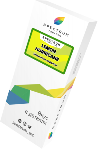 Табак Spectrum Classic Line Lemon Hurricane (Лимонный Ураган) 100г