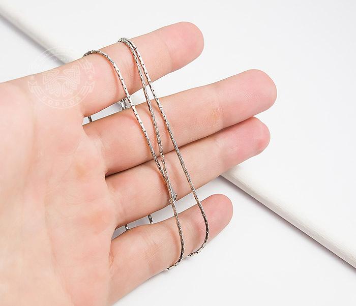 SSNH-0188Оригинальная мужская цепочка «Spikes» из ювелирной стали (55 см) фото 05