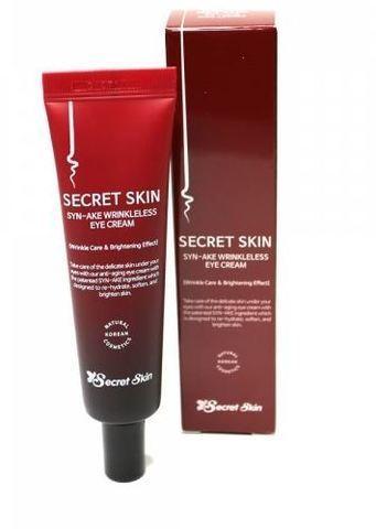 Крем для кожи вокруг глаз со змеиным пептидом Secret Skin Syn-ake Wrinkleless Eye Cream