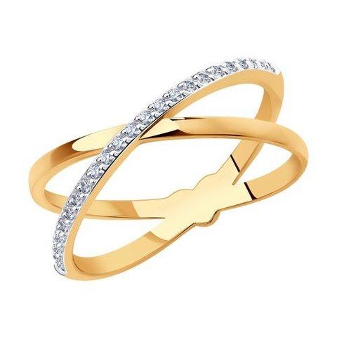 018573 - Кольцо из золота с фианитами