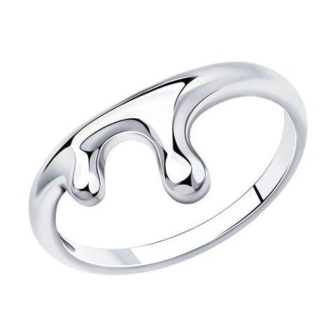 94013145 - Кольцо из серебра SKLV | Liquid metal