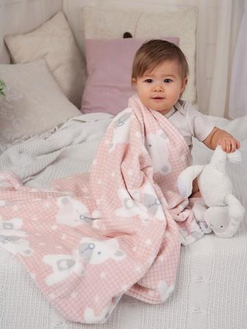 Плед для новорожденных плюшевый