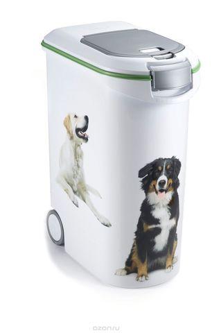 Бак-контейнер для корма пластиковый, на колёсах 20 кг.